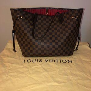 Authentic Louis Vuitton Neverfull MM Damier